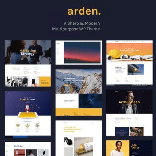Arden A Sharp Modern Multipurpose WordPress Theme