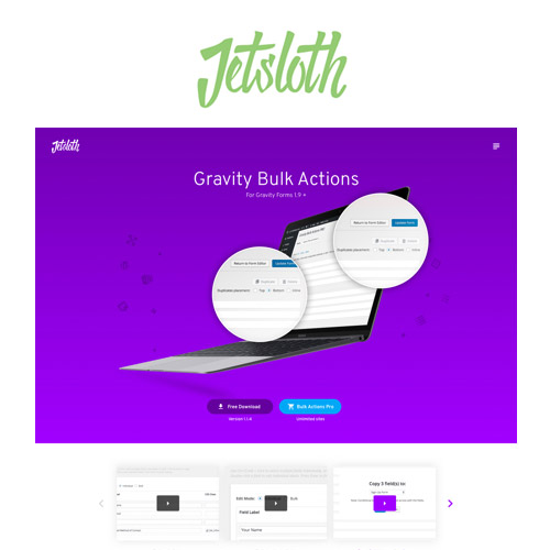 Jetsloth - Gravity Forms Bulk Actions Pro