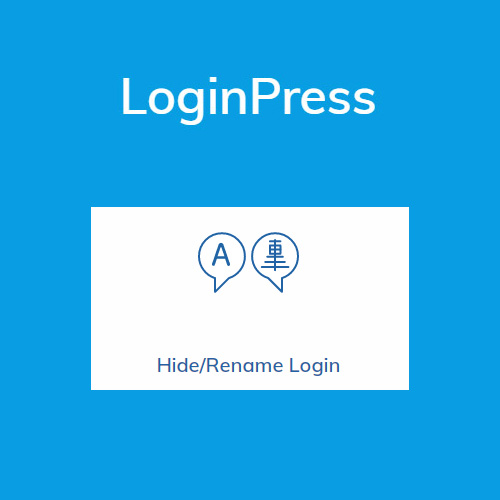 LoginPress Hide Rename Login
