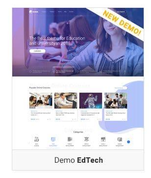 Một số demo Eduma Theme - EdTech