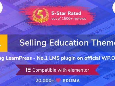 Eduma – Education WordPress Theme đang bán chạy số #1 trong danh mục Education