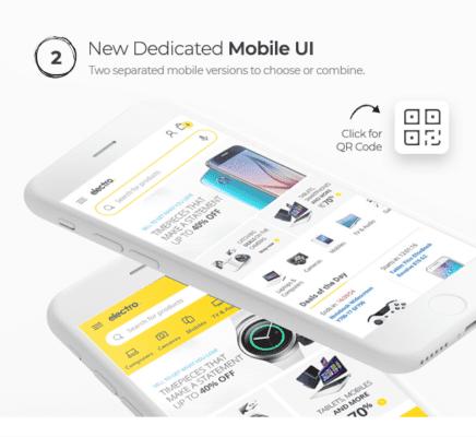 Giao diện mobile được tinh chỉnh tốt với Electro Theme