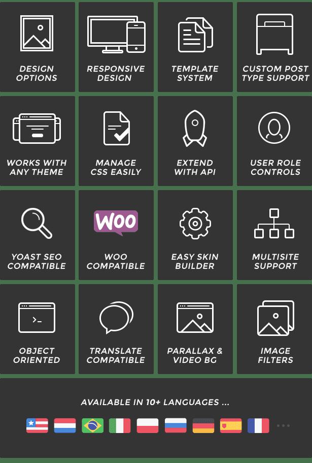 Hỗ trợ nhiều tính năng với Visual Page Builder