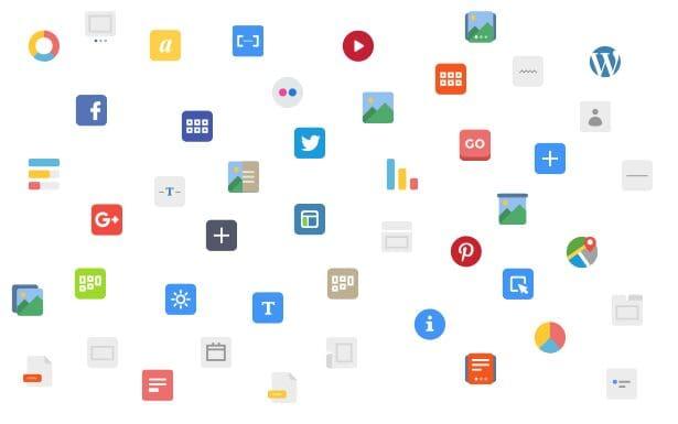 Hơn 50 khối nội dung được xây dựng bởi Visual page Builder