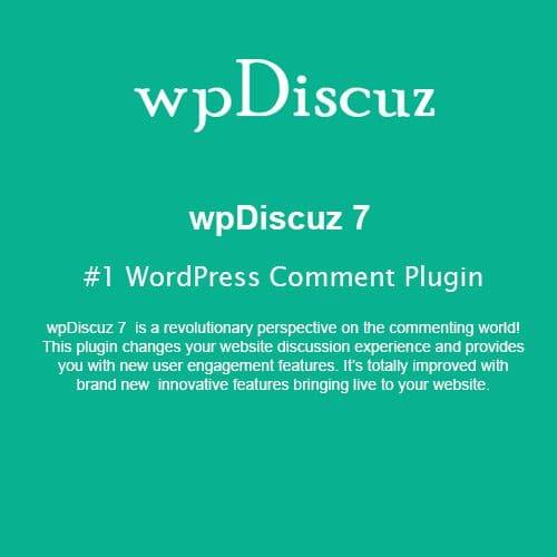 wpDiscuz - #1 WordPress Comment Plugin