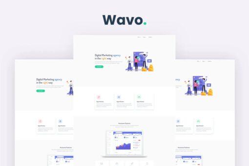 Wavo - Responsive Bootstrap SaaS, Startup & WebApp