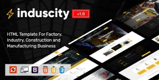 Induscity - Industry and Construction HTML Template